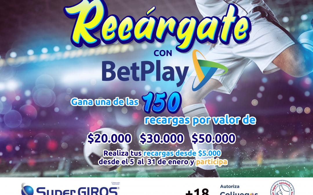 Promocional Recárgate con Betplay